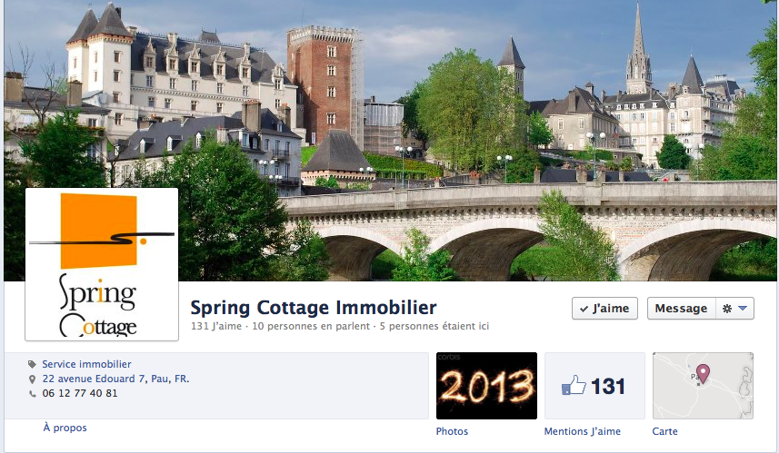 facebook Sping Cottage Immobilier