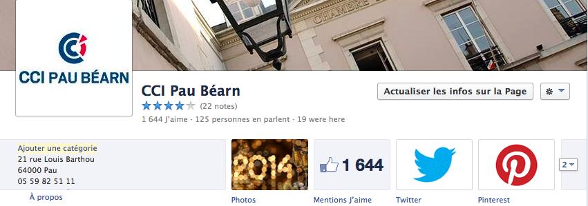 Medias pack la page facebook de la cci pau b arn prend la for Chambre consulaire lyon