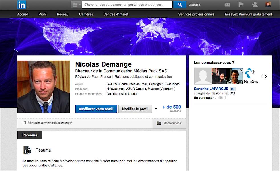 Nicolas Demange Medias Pack Linkedin